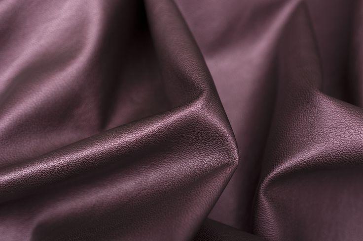Skóra konfekcyjna zamszowa burgundy - Tkaniny skóropodobne - Textilmar
