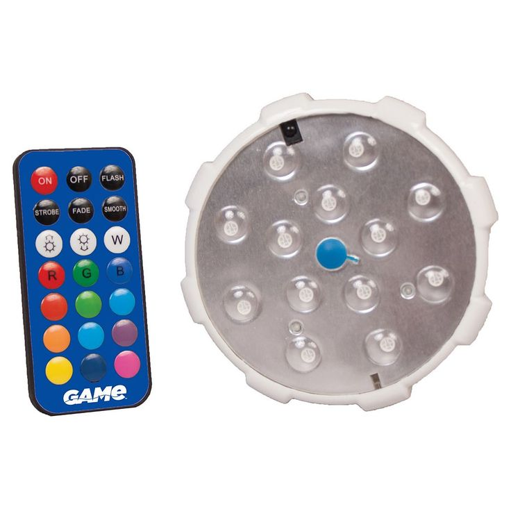 Blue Wave Remote Control LED Color Changing Pool Wall Light, White