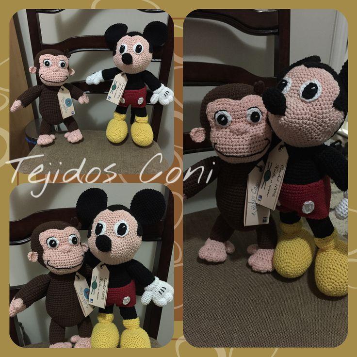 Jorge el curioso y Mickey - George the curious amigurumi
