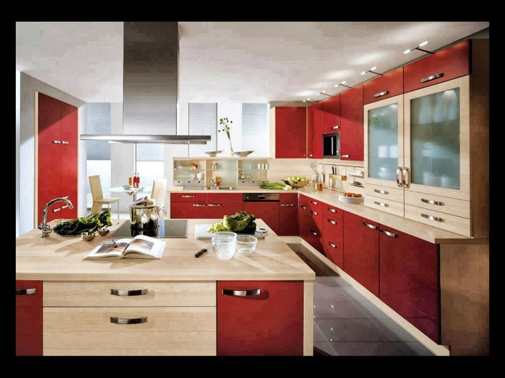 Kitchen, Astounding Kitchen Design With Contemporary Kitchen Design And Red  Wall Kitchen Design Ideas Also Romantic Red Kitchen Design With Black Table  ... Part 70