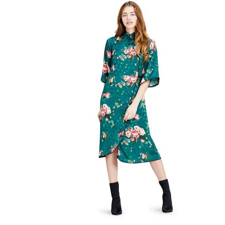 casual dresses midi floral wrap dress
