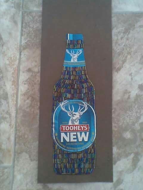 Beaded beer bottle