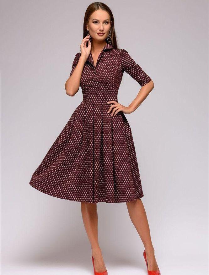 215af62d07f Женское платье-рубашка с принтом