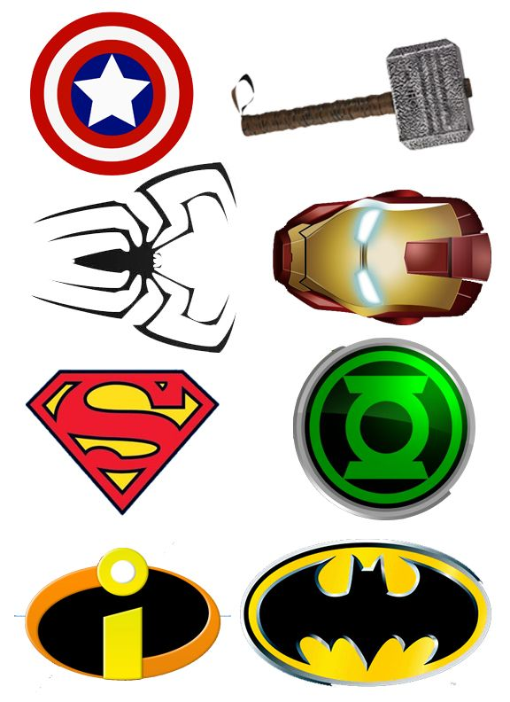 Superhero logos | Someone Call for a Superhero? | DIY