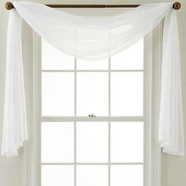Royal Velvet® Crushed Voile Scarf Valance - jcpenney