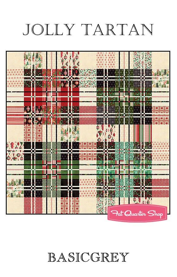 Jolly Tartan Quilt Pattern<BR>BasicGrey - April 2016