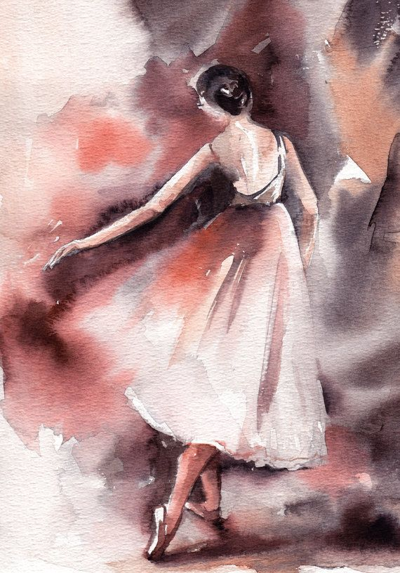 Ballet Painting Original Watercolor Painting by CanotStop on Etsy