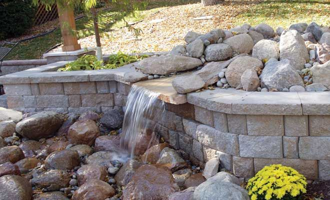 Water Retaining Landscape : Highland stone with natural rock landscaping pinterest