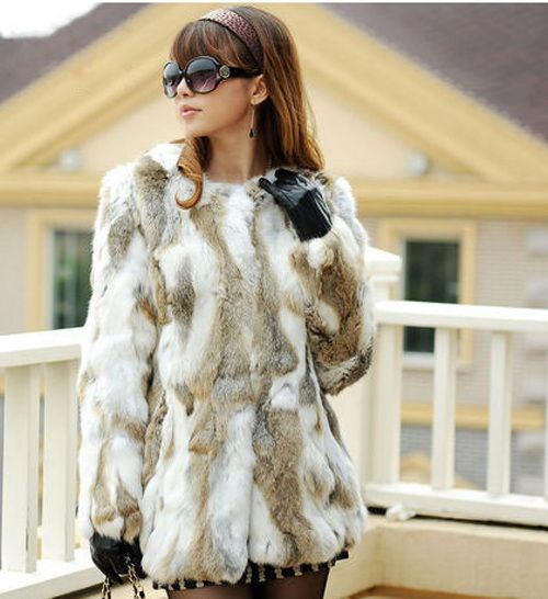 Best 25  Rabbit fur coat ideas on Pinterest | Real fur coats ...