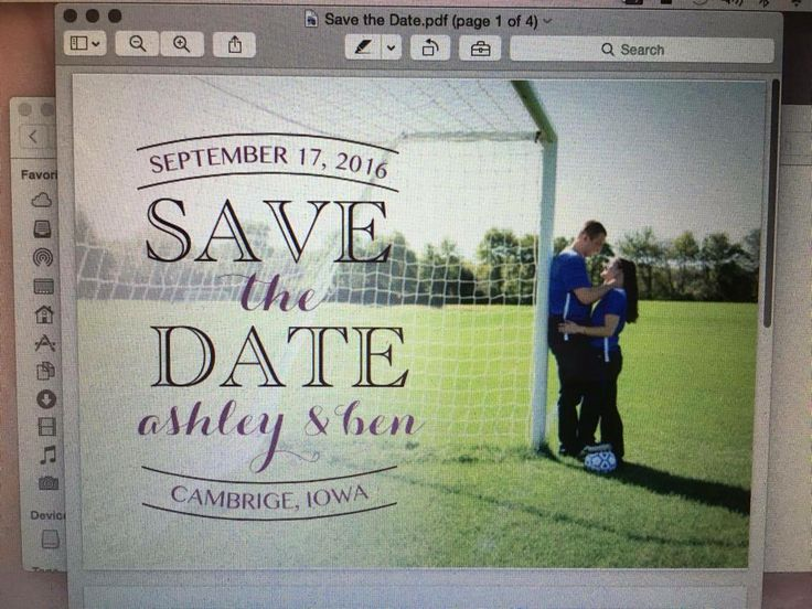 Soccer save the date