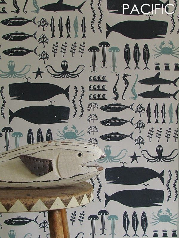 Just Kids Wallpaper Blog: YSD London Wallpaper - Swimming in the Sea