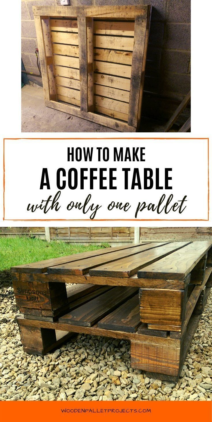 How To Build A Pallet Coffee Table Step By Step Pallet Coffee Table Pallet Coffee Table Diy Wooden Pallet Coffee Table [ 1460 x 735 Pixel ]