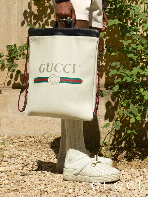 33b99e28a2 Gucci Print leather drawstring backpack | looks | Gucci, Gucci ...