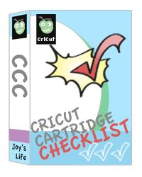 Use my Cricut Cartridge Checklist to keep up with your carts!