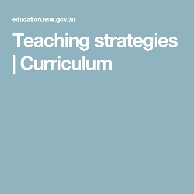 Teaching strategies | Curriculum