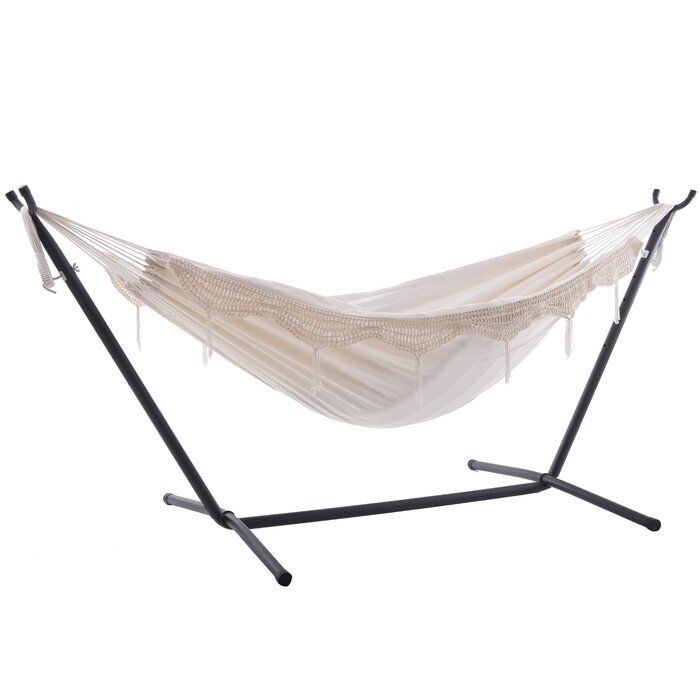 Dorinda Double Classic Hammock With Stand In 2020 Hammock Stand