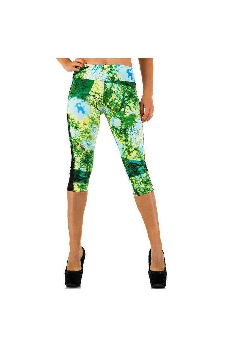 Nous vous proposons ce leggings fashion et pas cher ! Couleur Vert Composition 90% Polyester, 10% Spandex