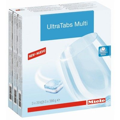 Miele 10245600 UltraTab Dishwasher Detergent Tablets (Pack of 60) |   AtlanticElectrics #Miele #MieleDishwasher #DetergentTablet