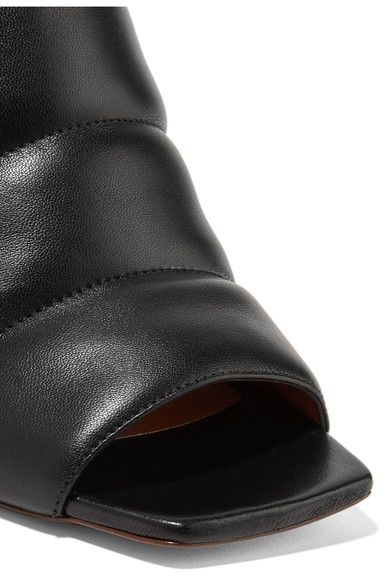 Marni - Quilted Leather Mules - Black