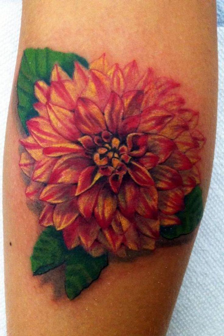 tattoo designs flowers zinnia | Dahlia Flower Tattoo