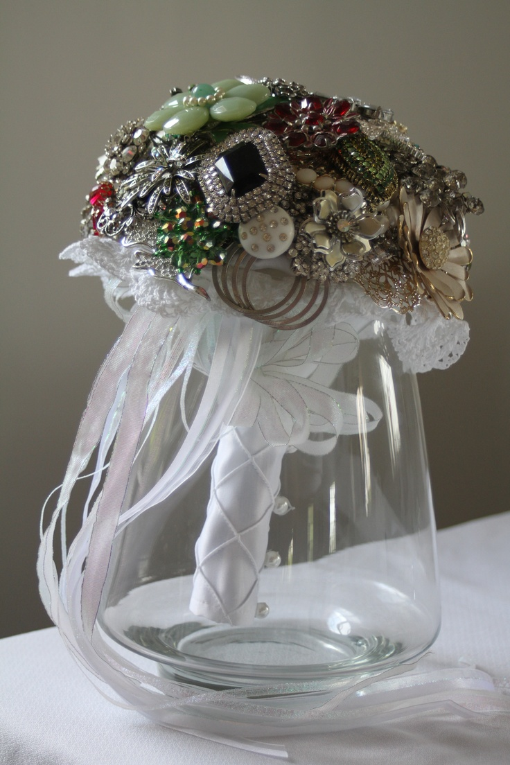 Vintage Jewellery Wedding Bouquets : Best images about wedding bouquets on