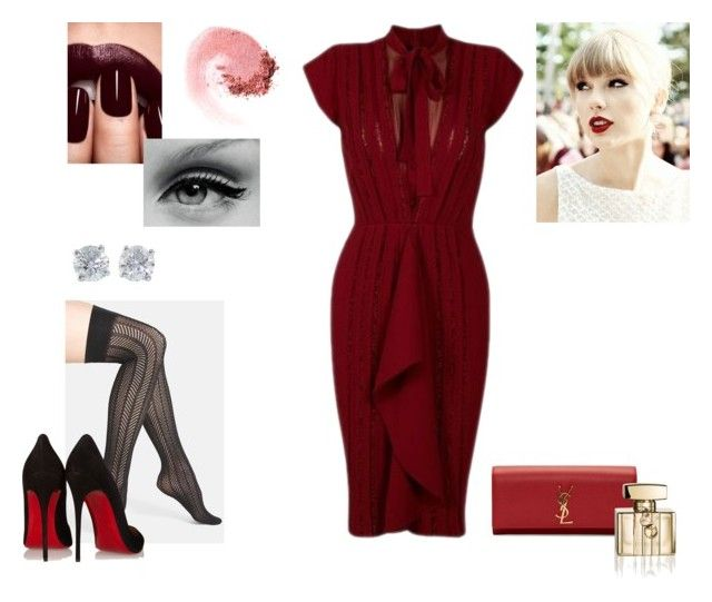 21/11 by katherinearchibald88 on Polyvore featuring moda, Vince Camuto, Christian Louboutin, Yves Saint Laurent, Tiffany & Co., NARS Cosmetics, Gucci and Kerr®