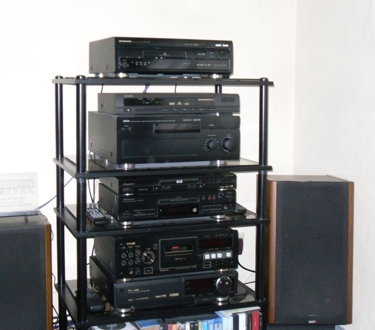 My Home Cinema System from 1996 to 2002: Pioneer Laser Disc-Player CLD-D925, Technisat Astrastar AX 2 Digital Radio Receiver, Yamaha DSP-A3090 Dolby Digital 5.1 Multi Channel Amplifier with optional Millenium DTS-Decoder (not visible in this picture), Pioneer DVD Player D-444, Pioneer CD-Recorder PDR-509, TEAC Cassette Tape Deck V-8030S with Dolby S Noise Reduction, Panasonic S-VHS Video Tape Recorder NV-FS 200, 4 x MB Quart 390 and 2 x Jamo Art Speaker Systems (not visible in this picture)