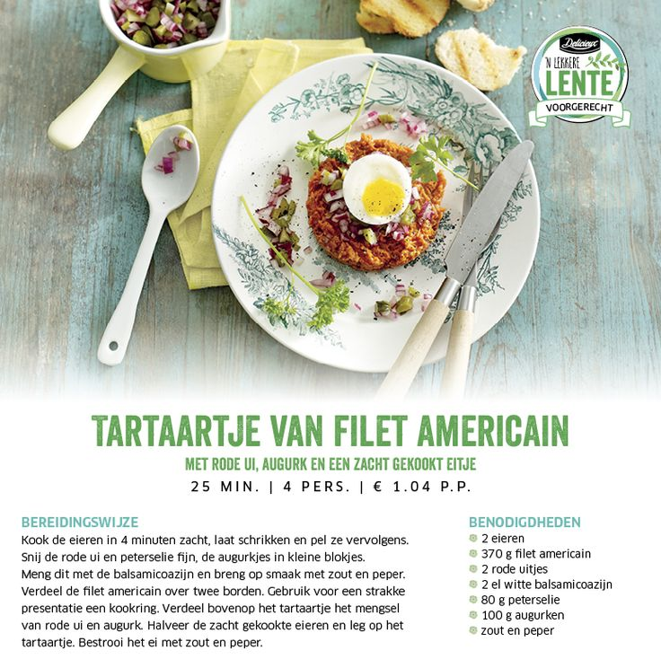 Tartaartje van filet americain met rode ui, augurk en een zacht gekookt eitje - Lidl Nederland