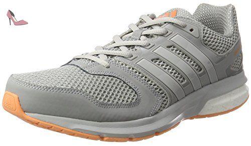 adidas Questar, Chaussures de Running Entrainement Femme, Gris (Mid Grey/Lgh Solid Grey/Easy Orange), 42 EU - Chaussures adidas (*Partner-Link)