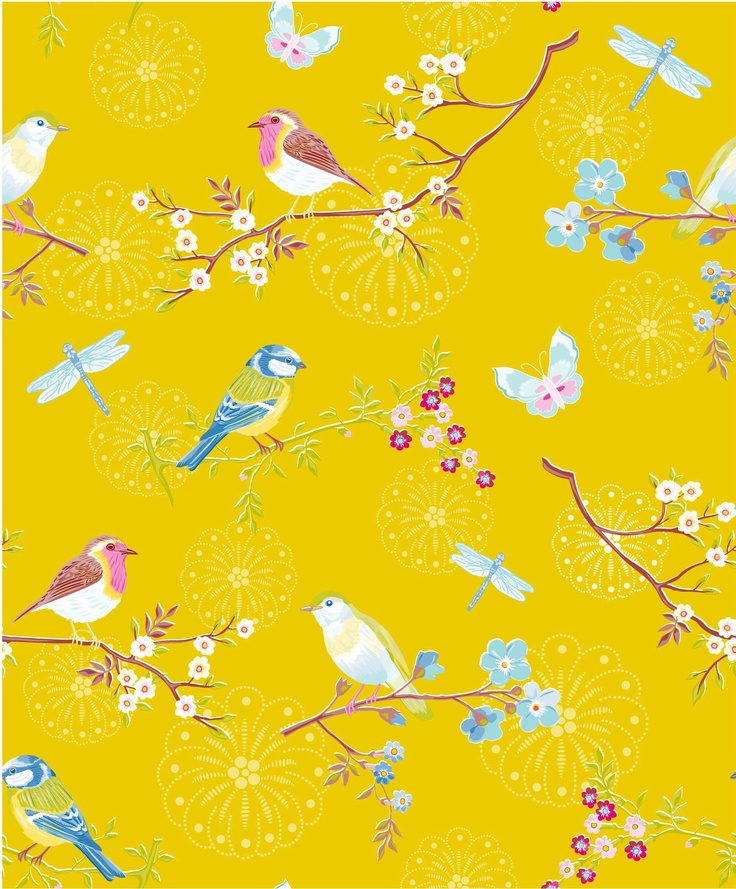 EARLY BIRD yellow wallpaper