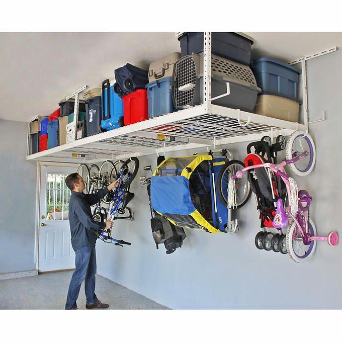 Saferacks Overhead Garage Storage Combo, Overhead Garage Storage Rack Hooks