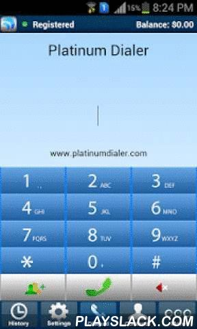 Platinum Dialer  Android App - playslack.com ,  Platinum Dialer is a mobile app for VoIP platform that works as a terminal for making VoIP calls. It utilises SIP protocol and requires data service of GPRS/3G/4G or WiFi network. This application is designed for VoIP service providers and end users. Service providers should provide their soft switch IP and port and they will get an operator code for their service. Customizable branded solution also provided for service providers. End user…