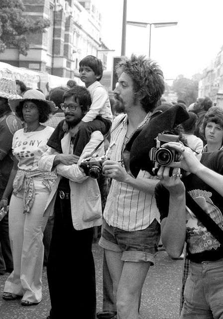 The cameras date this photo -  Notting Hill 1970's by Tony Withers photography, via Flickr