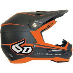 6D Atr-1 Stealth Motocross Helmet - Charcoal Orange - 2014 6D Motocross  Helmets -