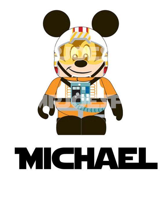 Star Wars Mickey Mouse DIY Printable Jedi Luke Donald Iron Transfer Pillowcase Shirt Star Tours Minnie