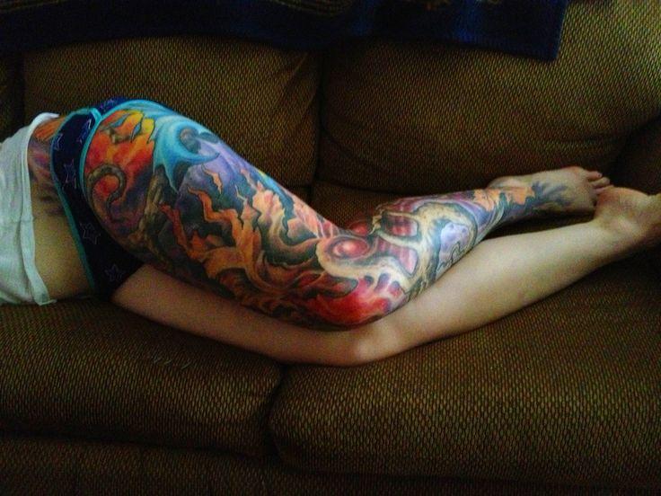 165 best leg tattoos images on pinterest leg tattoos for Leg sleeves tattoos
