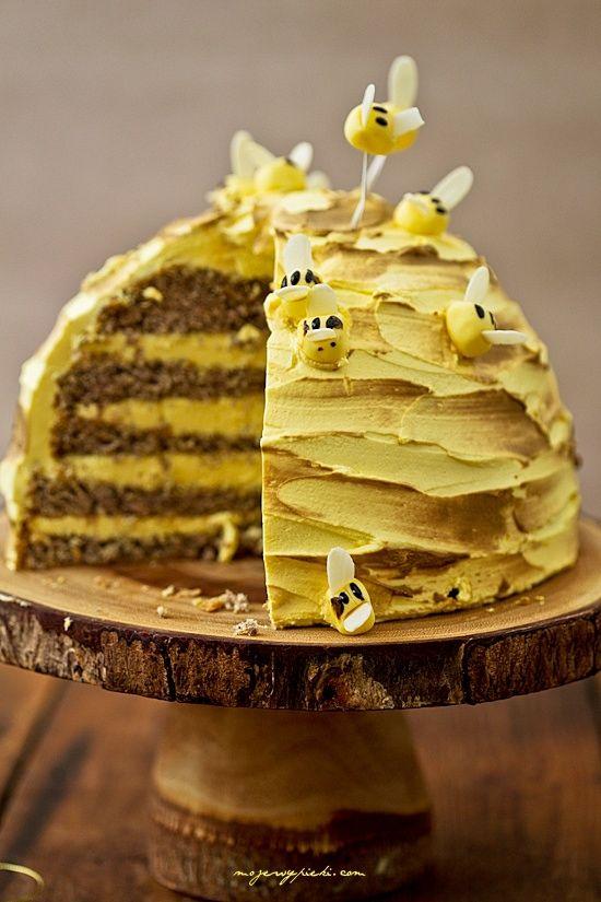 Tort Pszczelarza , Honey Bee Cake