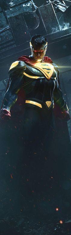SUPERMAN AWESOMENESS injustice 2 game art DC comics