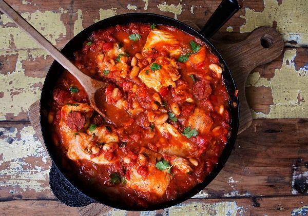Spanish Style Fish and Chorizo
