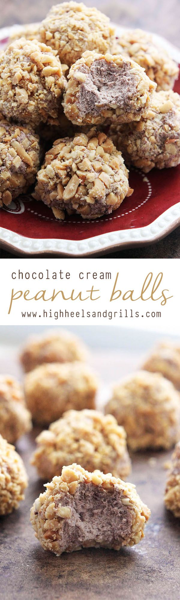 Chocolate Cream Peanut Balls - These are the ultimate Thanksgiving and Christmas dessert! I haven't met a person that doesn't like them!