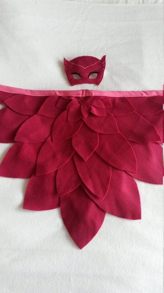Eulenflügel und Maske: Magischer Vogel. In verschiedenen Farben erhältlich. Perfekt zum Anziehen, Geburtstagsgeschenk   – Baby und Kinder
