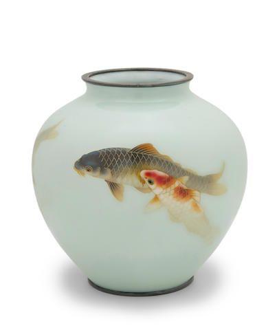 Ando Jubei (1876-1953) A cloisonné-enamel vaseTaisho era (1912-1926), circa 1920   Vase, Cloisonne enamel, Cloisonne