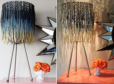 """a little glass box: When in doubt, make a lamp shade out of it..."""