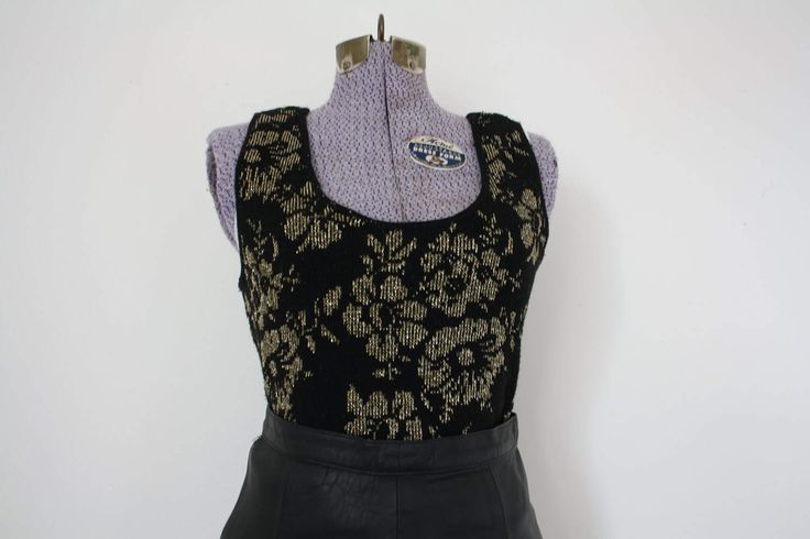 vintage sweater vest | sleeveless top | vintage top | vintage blouse | ladies top | festival top | festival blouse | vintage sleeveless top by shopidavan on Etsy