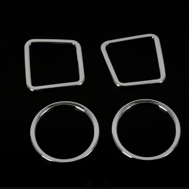 ABS Chrome Trim Outlet Decoration For Jeep Compass Liberty 2011 2012 2013 2014 Auto Accessories Interior Mouldings 4pcs per set