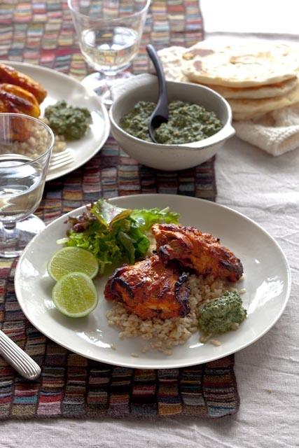 Tandoori chicken with mint yoghurt sauce | Indian Food | Pinterest