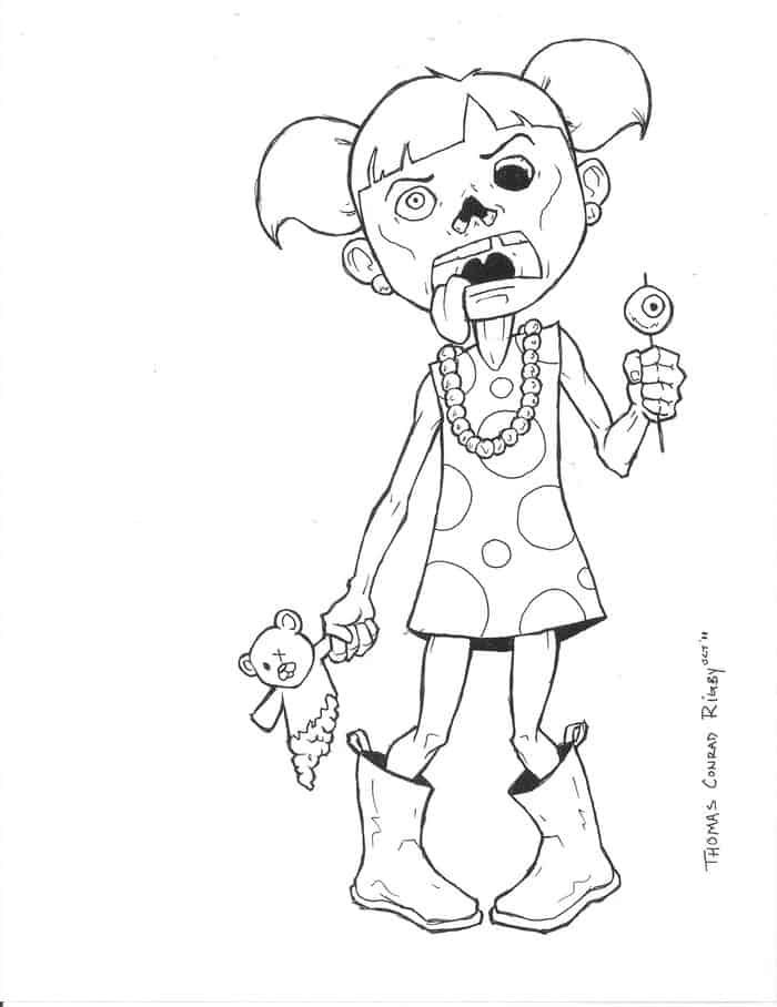 Coloring Pictures Zombies Taken
