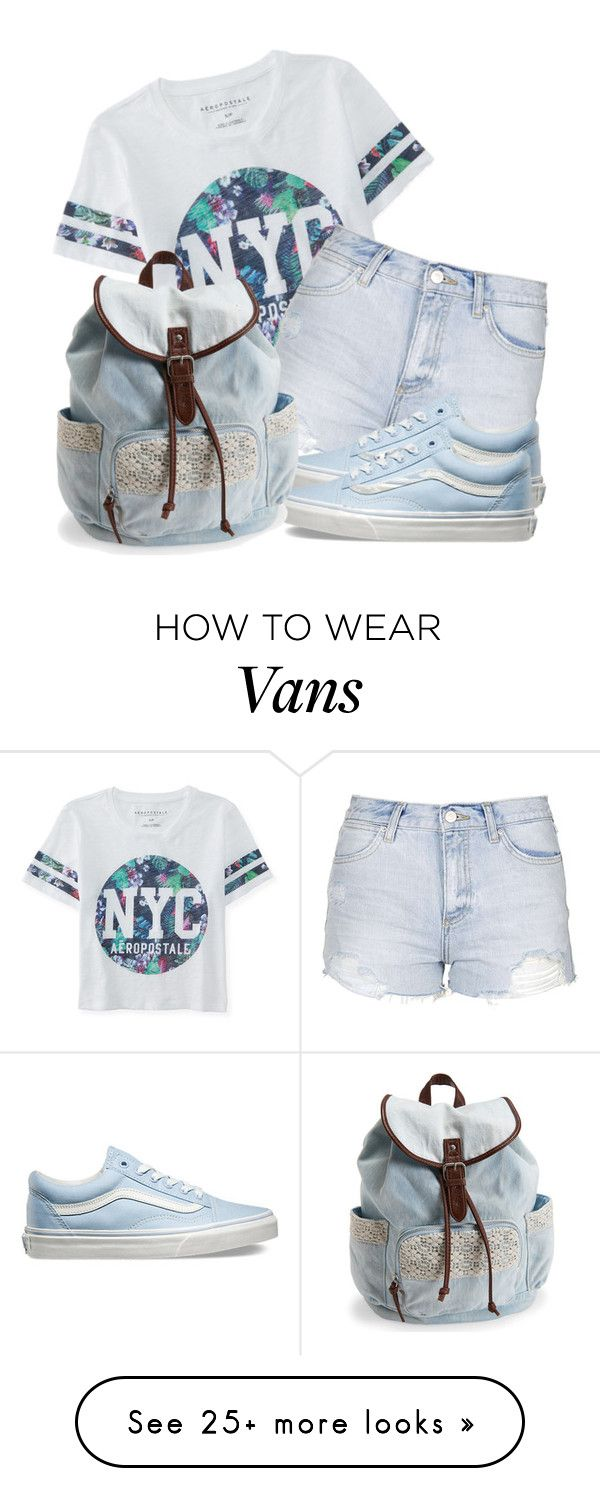 """NYC Girl"" by k-deniro on Polyvore featuring Aéropostale, Topshop, Vans, women's clothing, women's fashion, women, female, woman, misses and juniors"