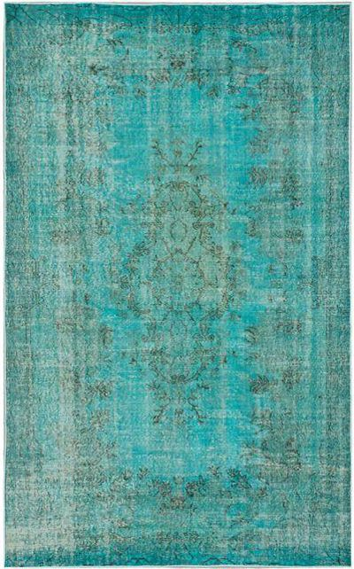 Turquoise Turkish Overdyed Rug ~ LoVe!!