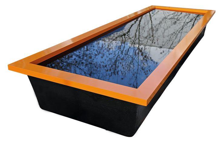 Architeknisches Teichbecken im Garten Wasserbecken GFK Becken - edelstahl teichbecken rechteckig